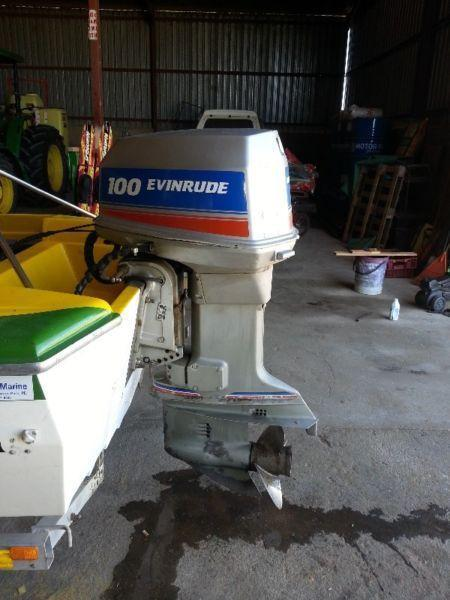 100hp evinrude outboard engine