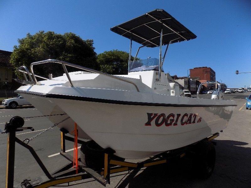 yogi cat 16 ft 2016 centre console on trailer 2 x 50 hp hondas four strokes !!!!!!!!!!!!!!!