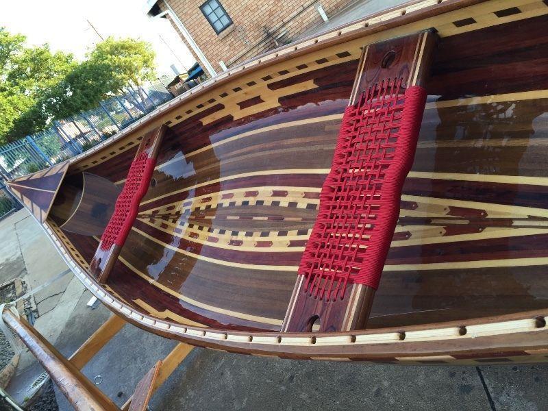 Wooden canoe handmade