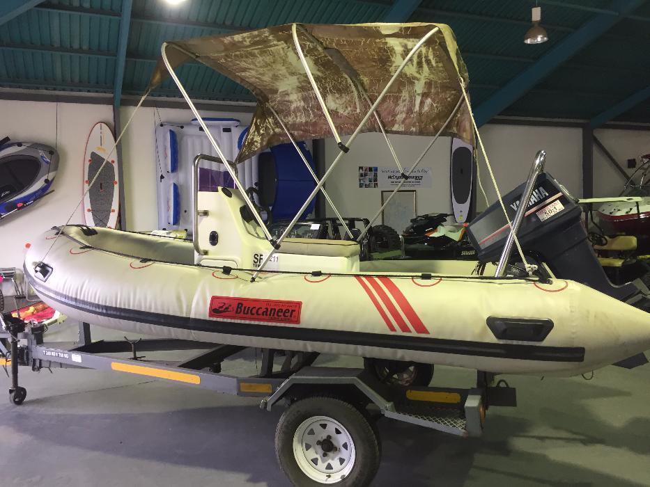 Buccaneer 4.7m Semi rigid centre consol inflatable with Yamaha 60hp mo