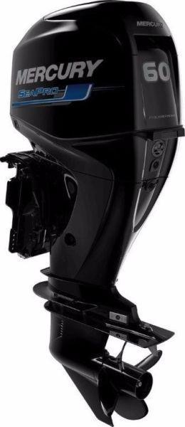 2 x 60Hp Mercury Sea-Pro Commercial Outboard Motors