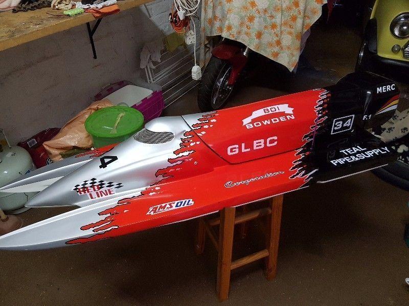 26cc Gas Power RC boat