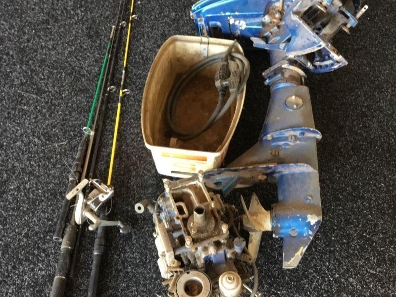 Small boat motor