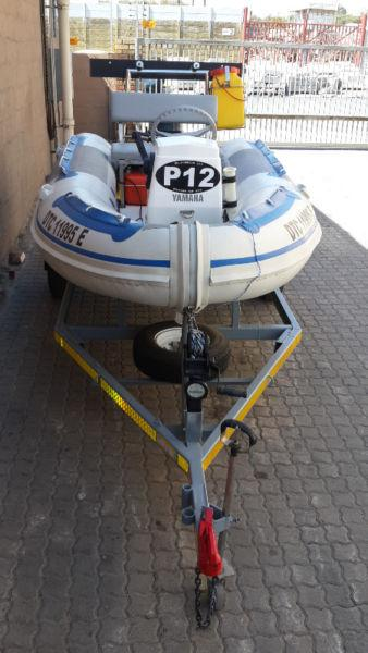 3.8 METER WATERCRAFT RUBBER DUCK / RIB WITH 30HP YAMAHA OUTBOARD