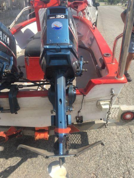 2 x Yamaha 30hp Outboards