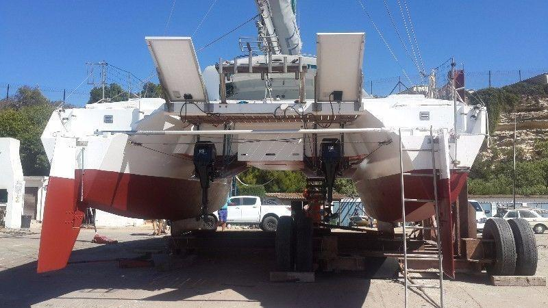 GOOD DEAL! 35 Ft Coral Sea catamaran for sale R750k. Call Ange` to view 082 883 0799