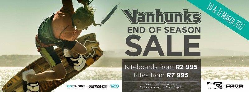 End OF Season Sale!!! KITEBOARDS / SUP's / SURFBOARDS / HARNESSES / KITES / CLOTHING