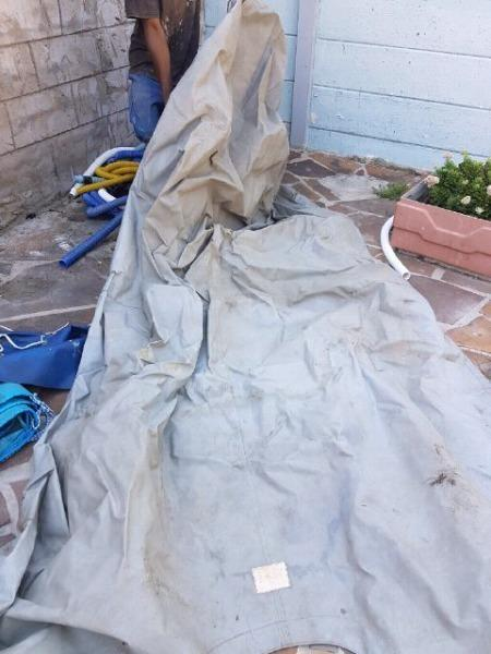 Various used boat covers