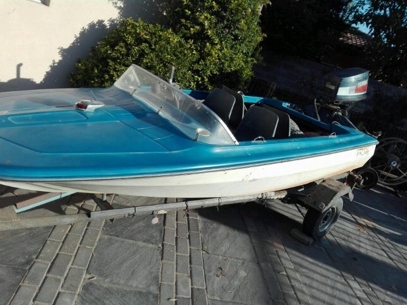 Boat with yamaha 50 motor for sale