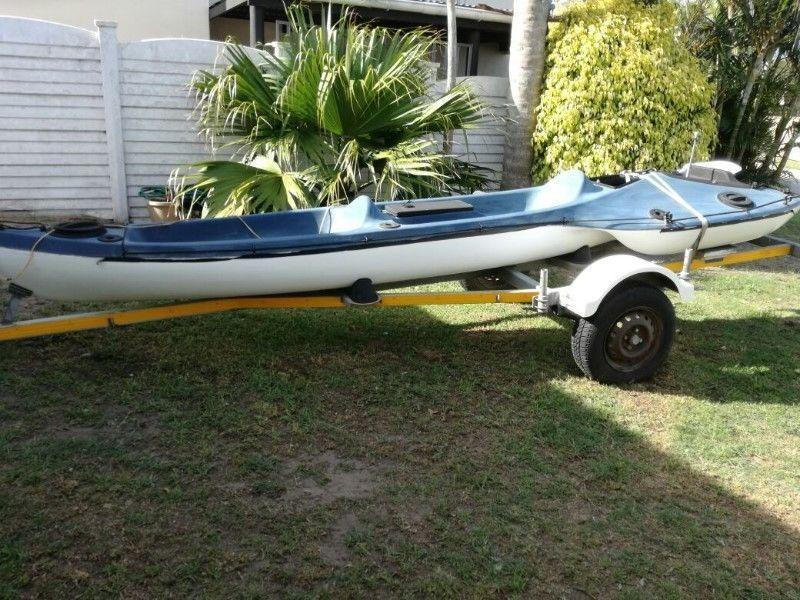 Splash Kayak with licensed galvanised trailer