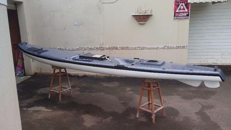 Kayak repair and respray