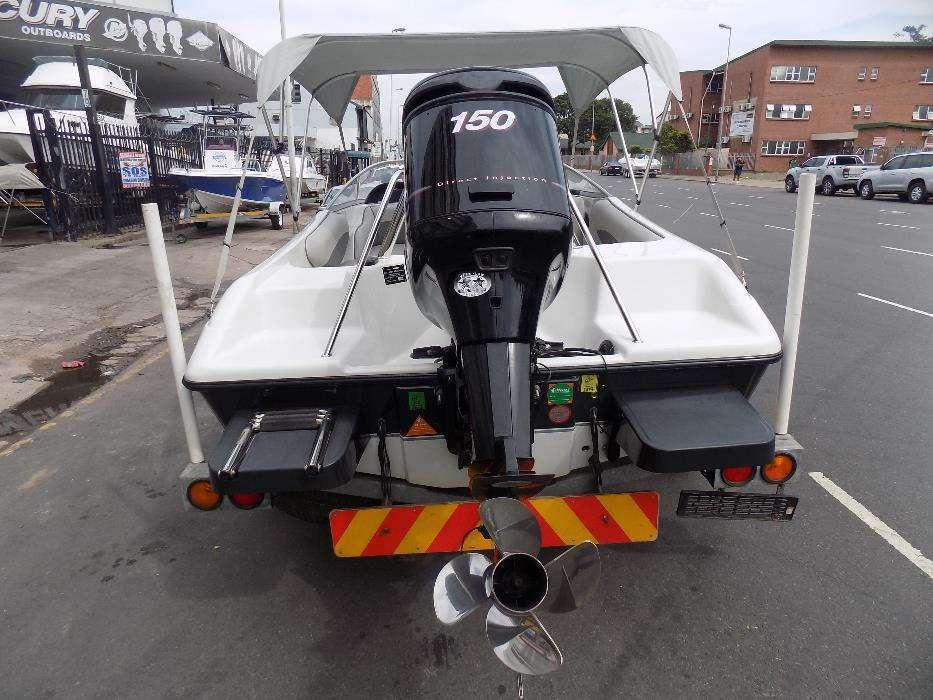 Celebrity 170 on trailer 150 hp mercury optimax trim & tilt