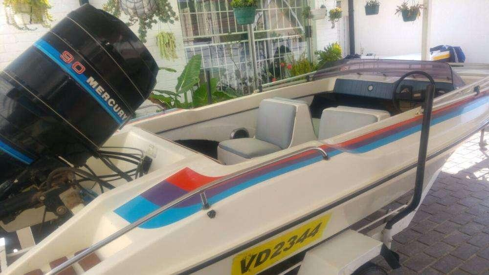 SPEED BOAT FOR SALE - Mercury 90HP Outboard 6FT PLUS Trailer!