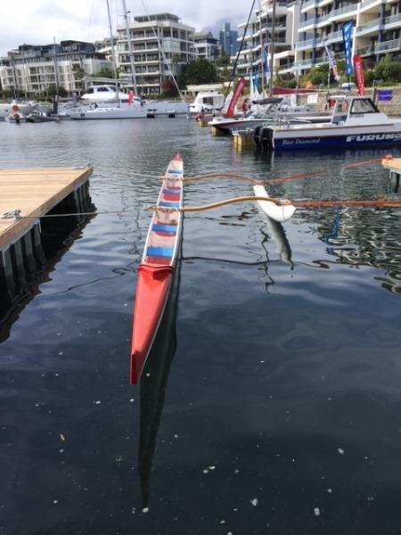 Outrigger 6 man canoe
