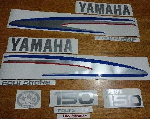 Yamaha Four stroke outboard motor cowl decals graphics sticker sets