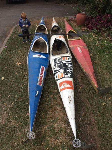 3 canoes for sale
