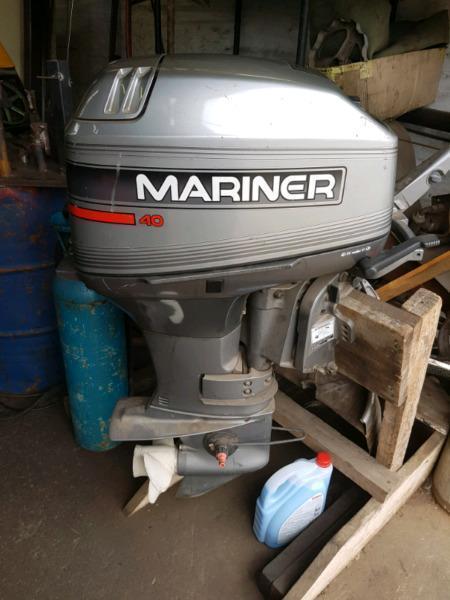 Mariner 40 Horsepower Outboard Boat Motor For Sale