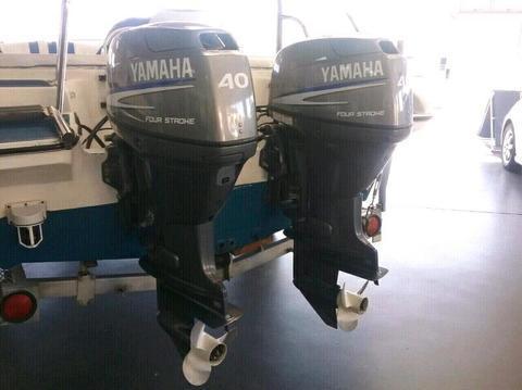 2x40Hp Yamaha four strokes