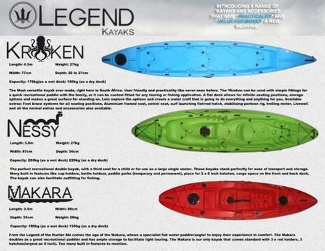 Legend Kayaks made in South Africa