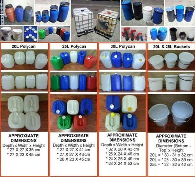 DRUMS - Plastic, Steel, Buckets, IBC's, Tanks, Kegs, 1000L & Greywater Systems
