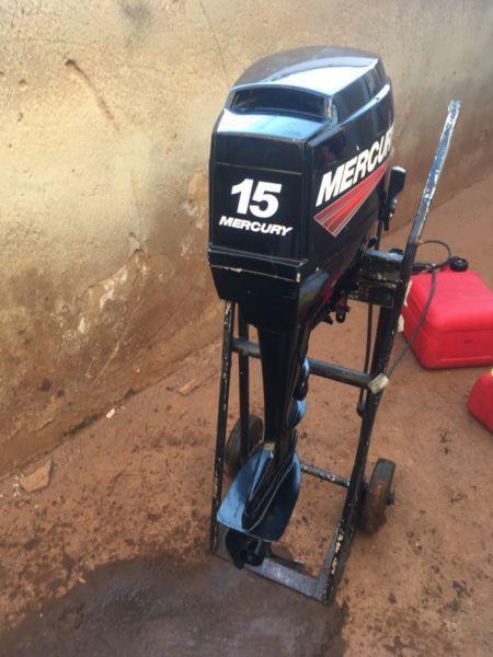 Selling used 15hp Mercury outboard motor
