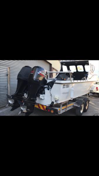 24ft Kei Marine with 2x suzuki 115hp 4 stroke motors