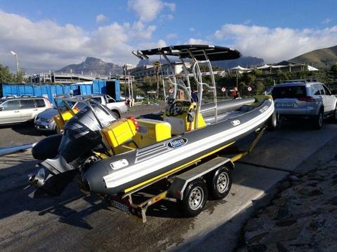 Semi Rigid Falcon 700 SRS RIB, 150 Hp Yamaha four stroke (Immaculate !)