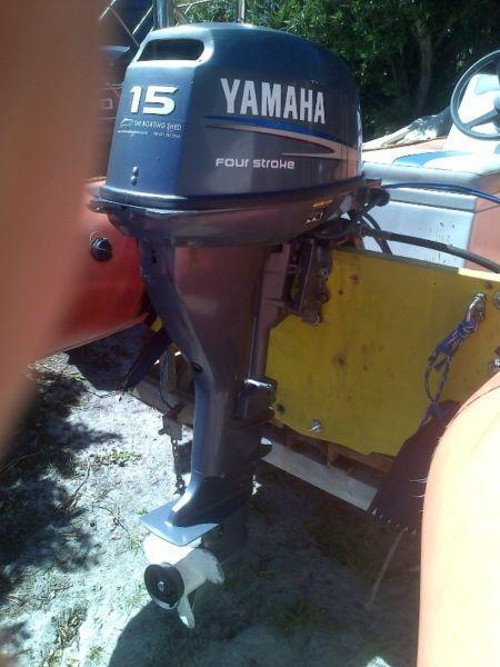 15hp Yamaha 4 stroke.Electric start.Long shaft.2008 model