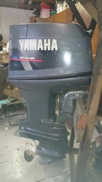 Yamaha 50 short shaft, manual start, oil injection