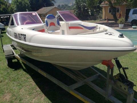 75 horse power mercury Boat
