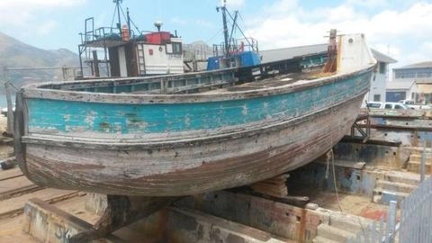 Old fishing trawler (wood)