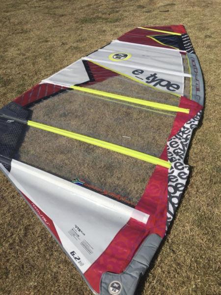 North 6.2 e_type freeride windsurfer sail