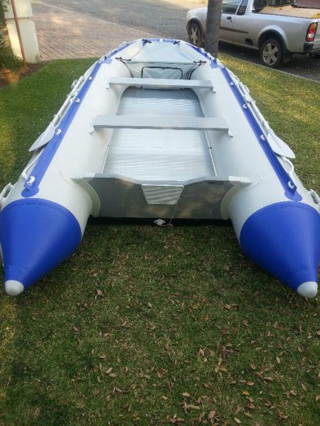 Aquastrike 4.2m MK III Inflatable Boats with Aluminium Floor, Inflatable Keel + Plenty More