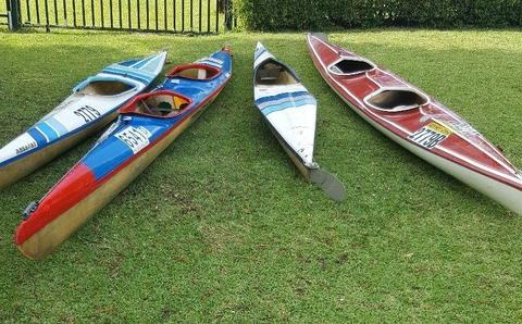 Various K1 and K2 Canoes for Sale