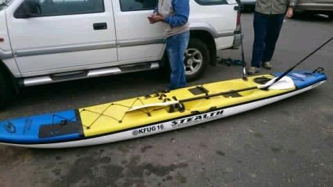 Stealth fishing ski for sale. Excellent condition. With paddle