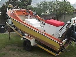 4.5meter Trim Craft boat, motor and trailer