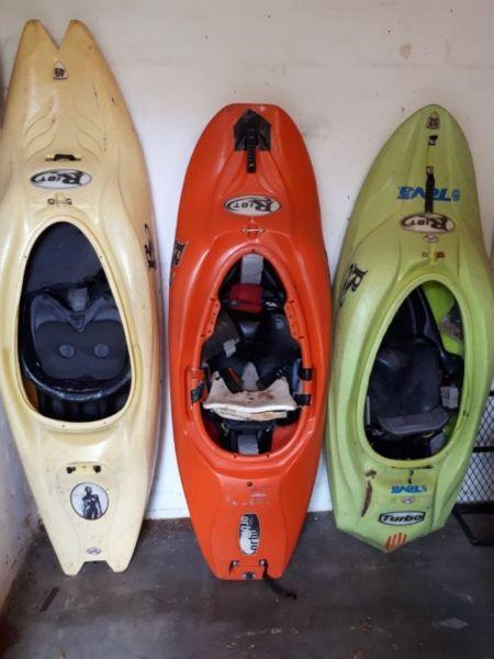 Second Hand Kayaks plus equipment for sale