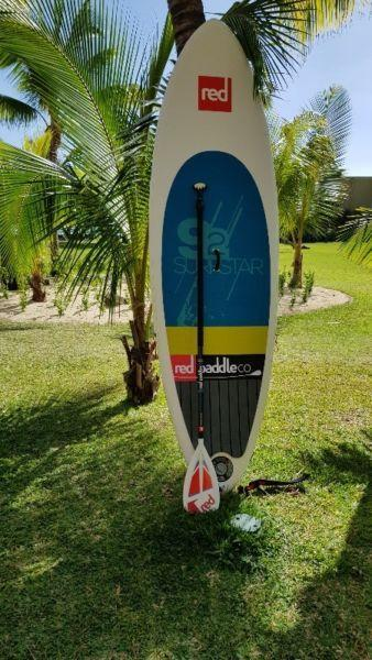 Red Paddle 9'2″ Surf Star inflatable SUP Paddle board complete including travel bag