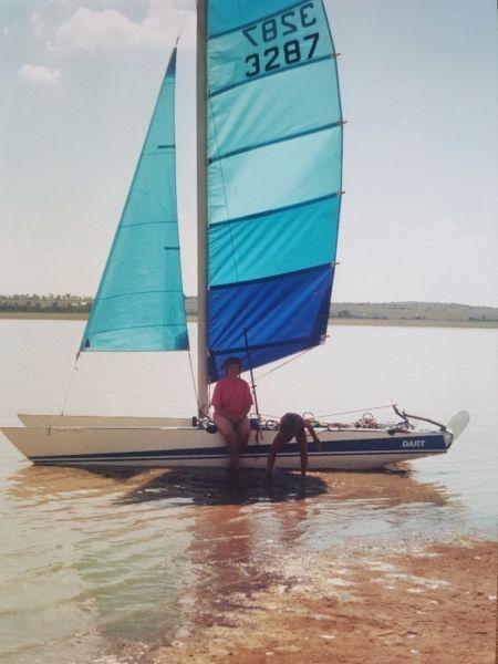 Dart sailing catamaran