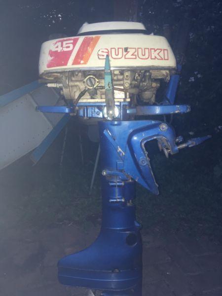 4.5hp Suzuki outboard for sale!!