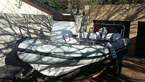 6.5 m Rubberduck boat