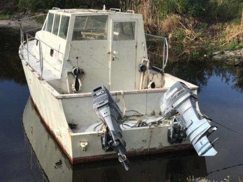 Steel motorboat Roberts 30ft