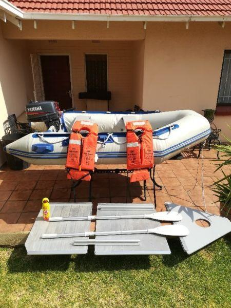 Water Snake Rubber Dinghy with 5hp Yamaha outboard engine