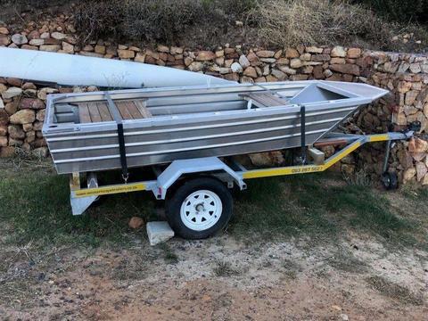 Aluminium dinghy fishing boat tender