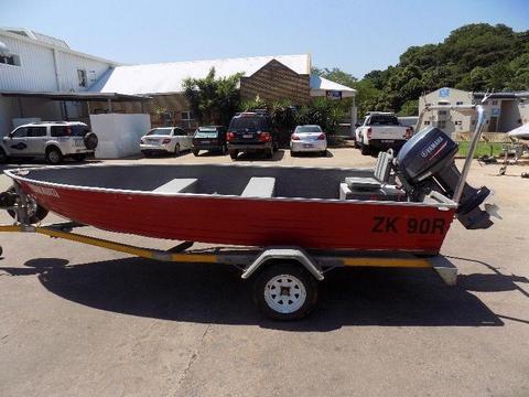 kafue 495 aluminium boat