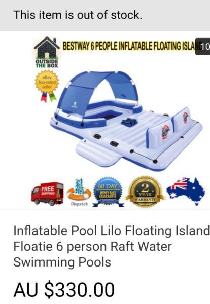 Pool lilo floting island