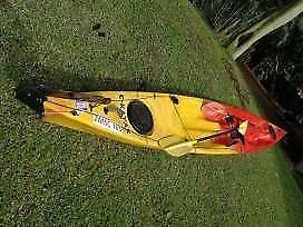 Double C-Kayak fishing paddle ski