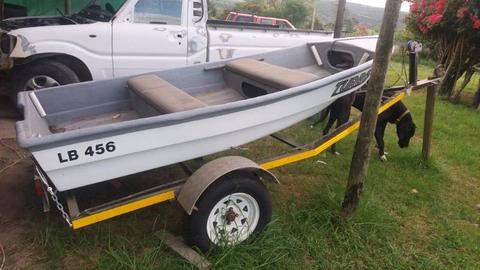 3m river boat with 2hp Yamaha motor