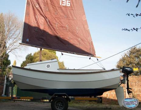 NEW SCAMP 11 ready to sail away . . . Sail NR 136
