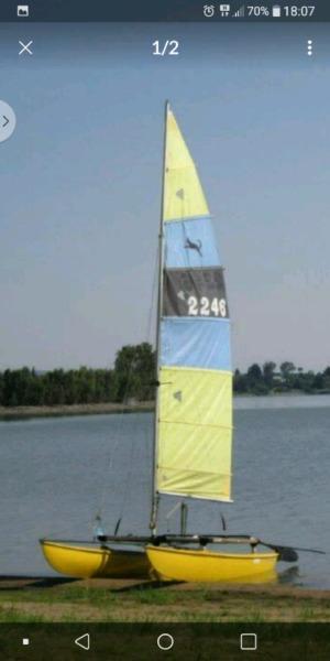 Catamaran sail boat